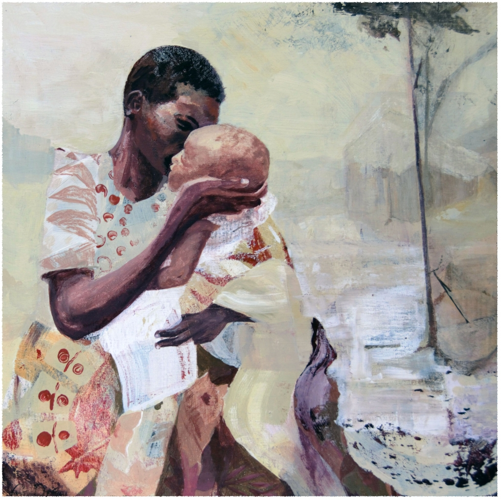 Mother and child scene