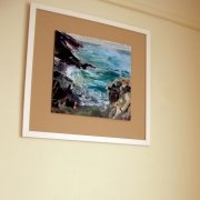 Cornish Seascape on wall by Gill Drew