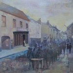 A First World War photograph inspired this mixed media painting by Gill Drew