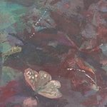 """A close up detail of """"Soft earth"""" by Gill Drew"""