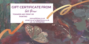 Gift Certificate for choosing art from Gill Drews' website