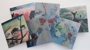 Set of six cards from original paintings by Gill Drew