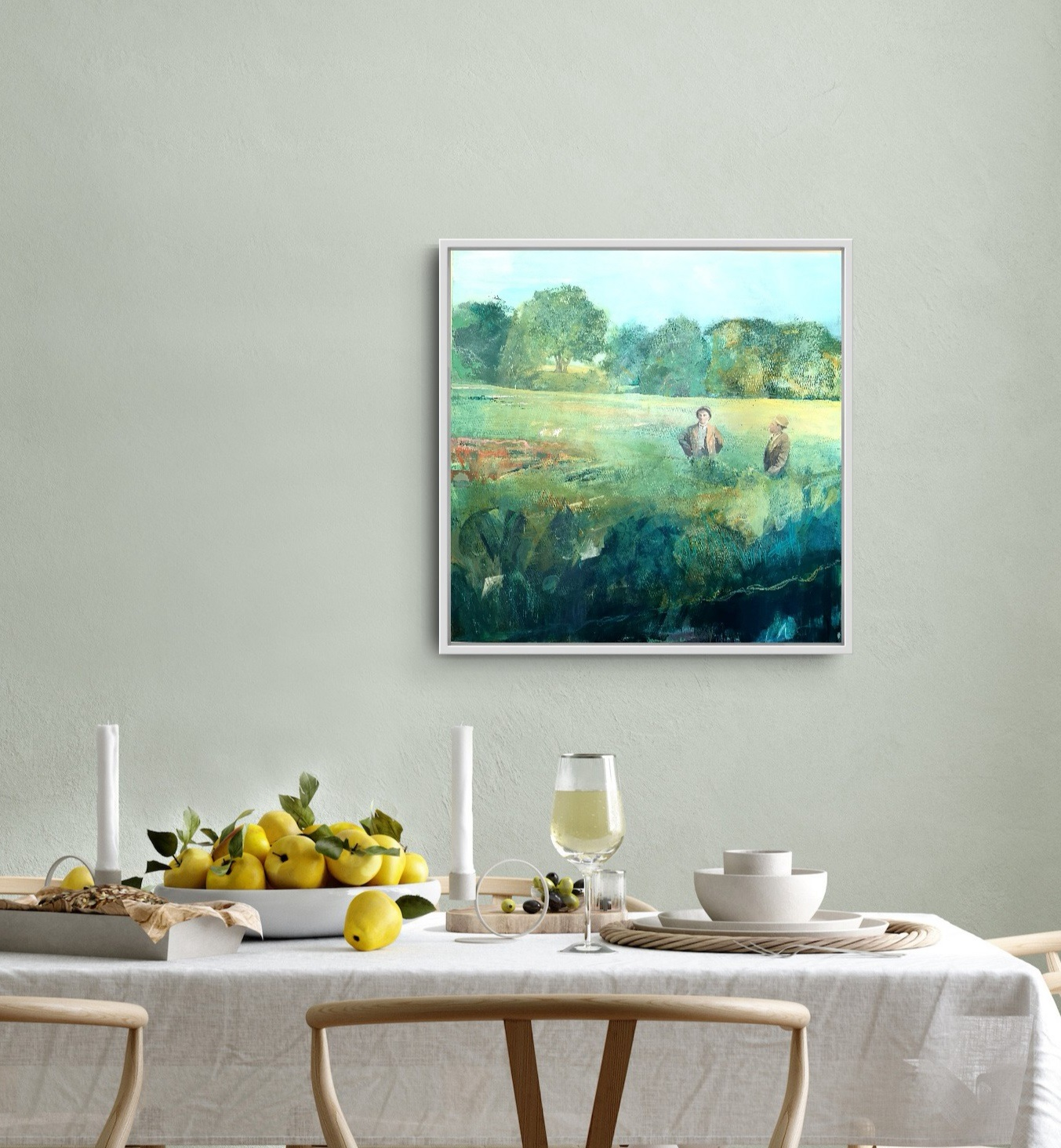 The Return of Spring in situ image of an acrylic painting by Gill Drew